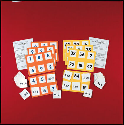 Bingo matemático Learn Well Trading Multiplicaciones