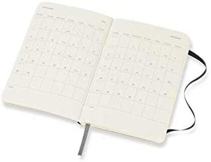 Agenda anual Moleskine Horizontal Soft Pocket 2021 Inglés Semana Negro