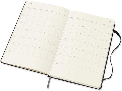 Agenda anual Moleskine Vertical Classic Large 2021 Inglés Semana Negro