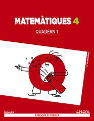 Matemàtiques 1 PRIMÀRIA 4 Anaya Text 9788467879629