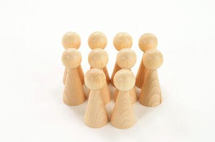 Juego heurístico Thick Educational Piezas de madera Figuras