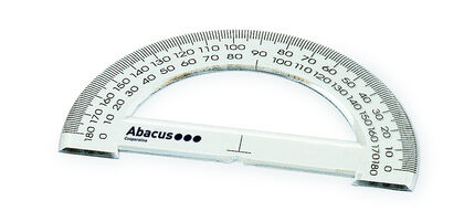 TRANSPORTADOR ABACUS ESCOLAR 15cm