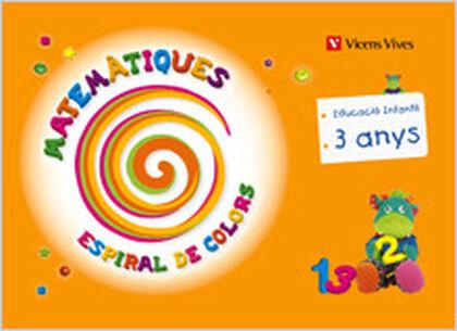 MATEMÀTIQUES ESPIRAL DE COLORS INFANTIL 3 ANYS Vicens Vives 9788431696597