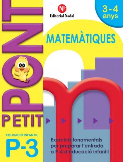 MATEMÀTIQUES PONT INFANTIL 3 ANYS Nadal 9788478875429