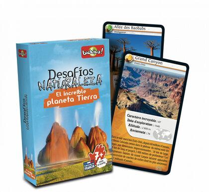 Juego de cartas Bioviva Desafíos Naturaleza Tierra increíble