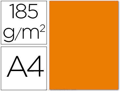 CARTULINA A-4/185gr.NARANJ(50H