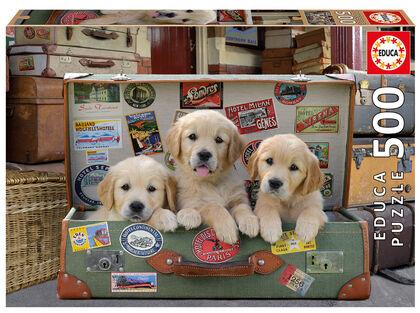 Puzzle Educa Puzzle cachorros en el equipaje