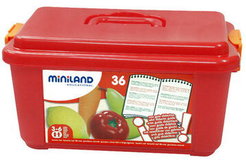 Juego simbólico Miniland Comiland Fruta y verdura