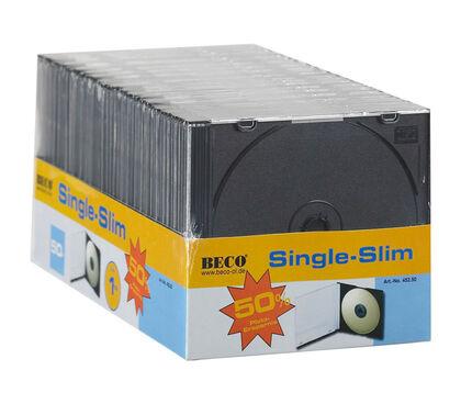 ESTUCHE CD 50U SLIM NEGRO