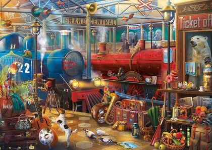 Puzzle Educa Estación de tren Enigmatic Puzzle (500 piezas)