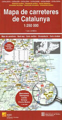 MAPA DE CARRETERES DE CATALUNYA 1:250.00