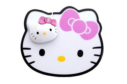 Ratón + Alfombrilla Hello Kitty