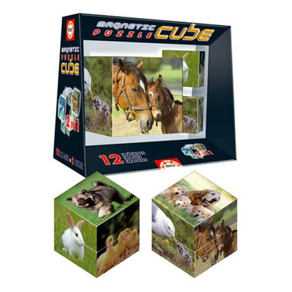 Puzzle magnético Educa - Animales (8 cubos)