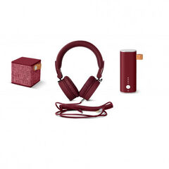Pack Fresh n Rebel Auriculares + altavoz + batería Rojo
