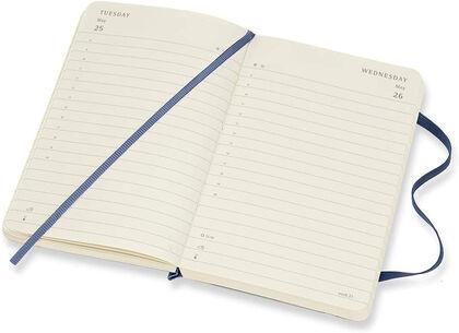 Agenda anual Moleskine Soft Pocket 2021 Inglés Día Azul