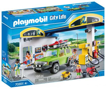 Vehículos Playmobil City Life Gasolinera