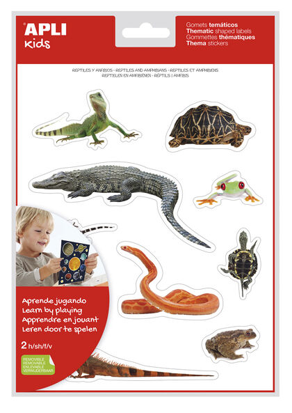 Pegatinas foto reptil y anfibios
