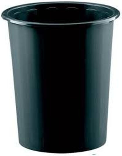 Papelera de plástico 14L Negro