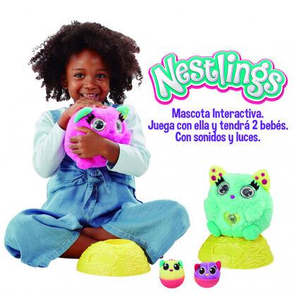 Peluche interactivo Goliath Nestlings Rosa
