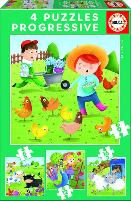 Puzzle Animales de la granja 4U Educa
