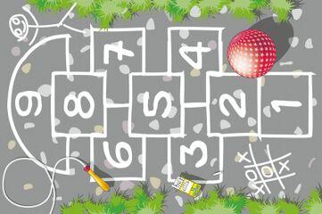 Tapiz de juego Rayuela Abacus