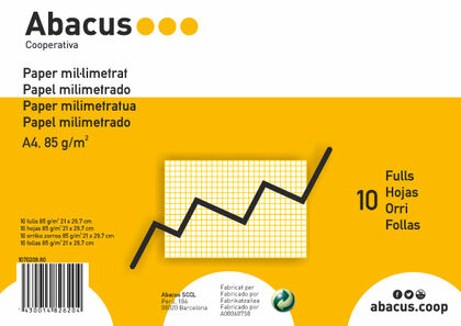 Papel milimetrado A4Abacus