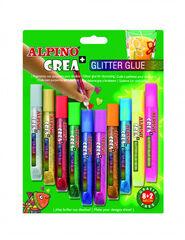 Pegamento con purpurina Alpino Crea+ Glitter Glue (8+2)