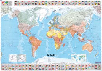 Mapa tubo El Mundo (plastificado)