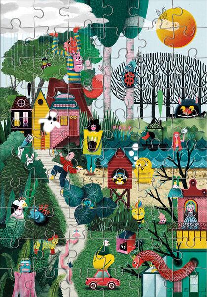 Puzzle ECO Encuentra mi jardín (60 piezas)