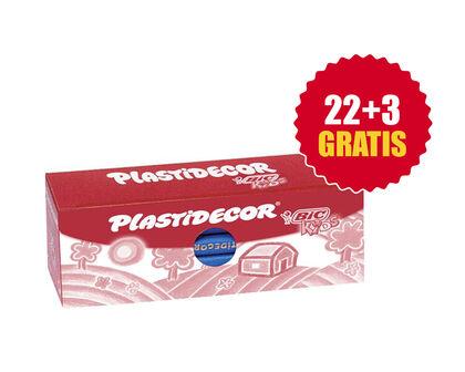 Cera plástica Kids caja 25u Azul