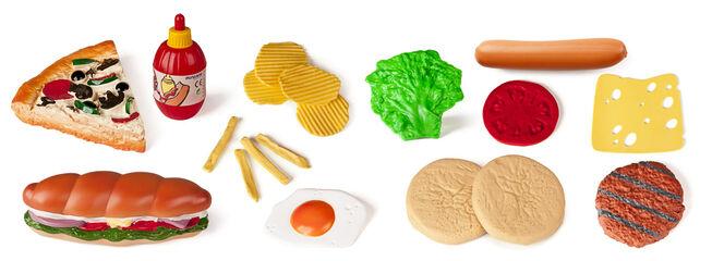 Juego simbólico Miniland Bolsa comida rápida