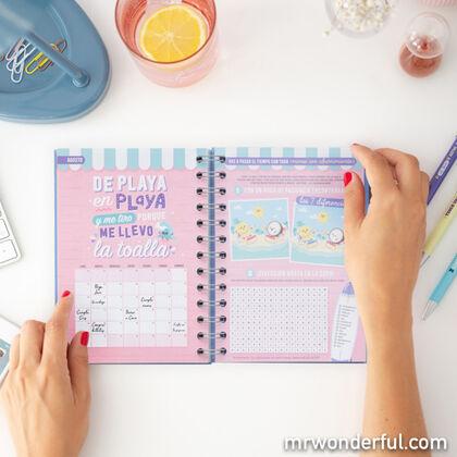 Agenda Escolar Mr.Wonderful Allá Voy A6 Semana