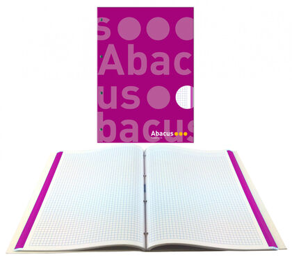 NotebookAbacusEncuadernado A4 70gr5x5Lila
