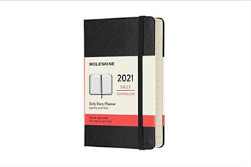 Agenda anual Moleskine Classic Pocket 2021 Inglés Día Negro